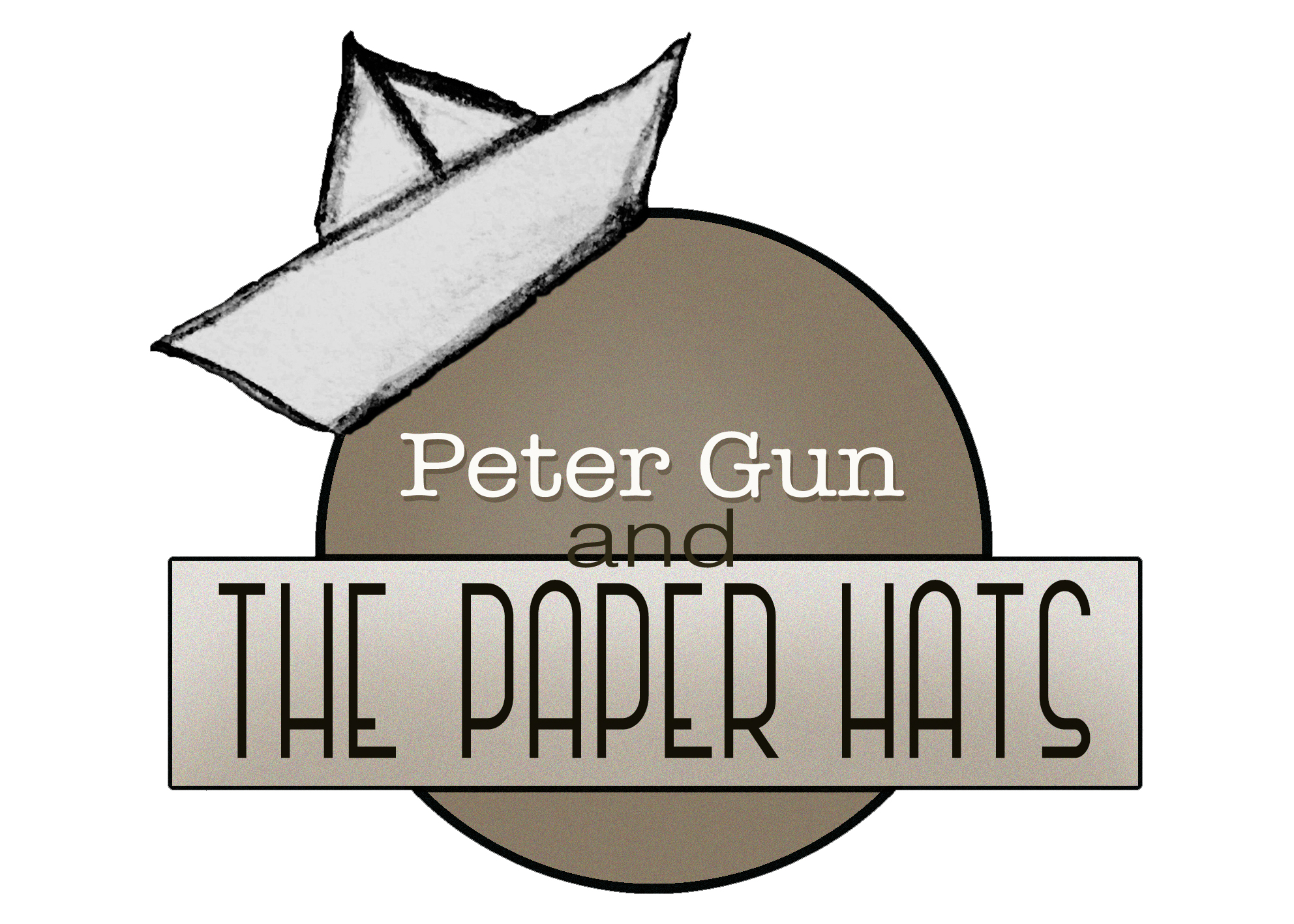 Logo Peter Gun and The Paper Hats